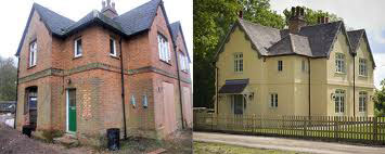Before and after insulation of period property